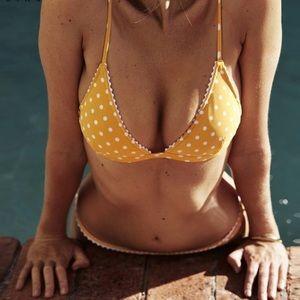 Other - 'CALLIE' Yellow Polka Dot Bikini